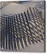 Sand Fence On The Beach In Destin Acrylic Print by Marc Moritsch