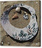 Sand On A Half Shell Acrylic Print