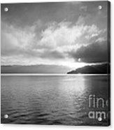 Sand Point Black And White  Acrylic Print