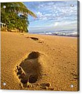 Sand Prints Acrylic Print by Tim Fitzwater
