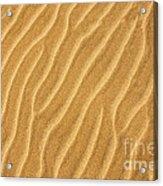 Sand Ripples Abstract Acrylic Print