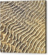 Sand Ripples In Shallow Water Acrylic Print