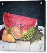 Sandia Con Frutas Acrylic Print