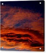 Sandia Heights Fiery Sunset Panoramic Acrylic Print