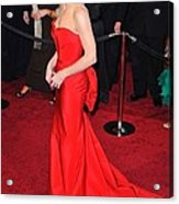 Sandra Bullock Wearing Vera Wang Dress Acrylic Print by Everett