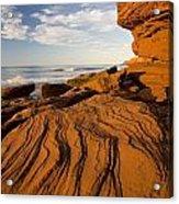 Sandstone Cliffs, Cavendish, Prince Acrylic Print
