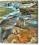 Sandstone Falls In The New River Acrylic Print