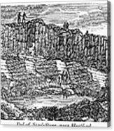 Sandstone Quarry, 1840 Acrylic Print