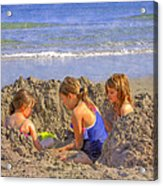 Sandy Fingers Sandy Toes Acrylic Print
