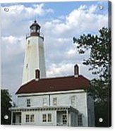 Sandy Hook Lighthouse And Building Acrylic Print