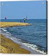 Sandy Point Fisherman Acrylic Print