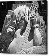 Sandy Rock Musician Acrylic Print