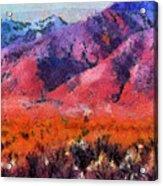 Sangre De Cristos -- Cezanne Acrylic Print