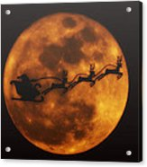 Santa Across The Sky Acrylic Print