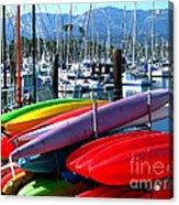 Santa Barbara Harbor Acrylic Print