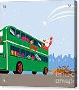 Santa Claus Double Decker Bus Acrylic Print by Aloysius Patrimonio