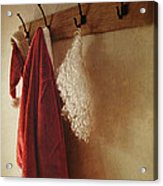 Santa Costume Hanging On Coat Rack Acrylic Print