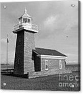 Santa Cruz Lighthouse - Black And White Acrylic Print