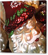 Santa Glass Ornament Acrylic Print