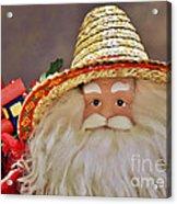 Santa Is A Gardener Acrylic Print