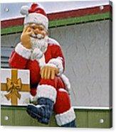 Santa Is Waiting For You Acrylic Print