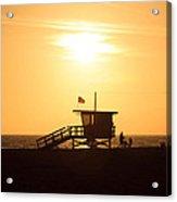Santa Monica California Sunset Photo Acrylic Print by Paul Velgos