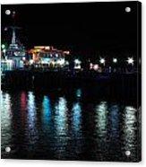 Santa Monica Pier After Dark Acrylic Print