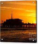 Santa Monica Pier Sunset Acrylic Print