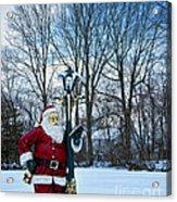 Santa's Checking His List Acrylic Print
