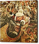 Santa's Vintage Memories Acrylic Print