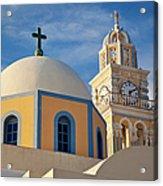 Santorini Church Acrylic Print