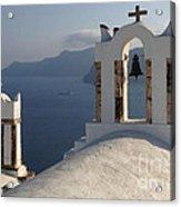 Santorini Churches Acrylic Print
