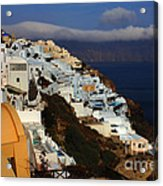 Santorini Cliff View Acrylic Print