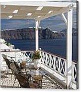 Santorini Patio Acrylic Print