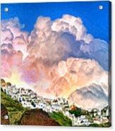Santorini Sunrise Acrylic Print