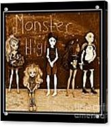 Sarah's Monster High Collection Sepia Acrylic Print