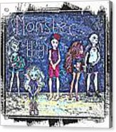 Sarah's Monster High Collection Sketch Acrylic Print
