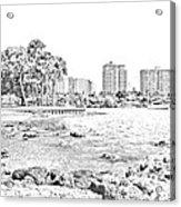Sarasota Sketch Acrylic Print