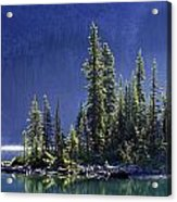 Sargents Point, Lake Ohara, Yoho Acrylic Print