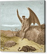 Satan Finding Serpent, By Dore Acrylic Print