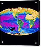 Satellite Image Of The Earth's Biosphere Acrylic Print