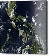 Satellite Image Of The Philippines Acrylic Print
