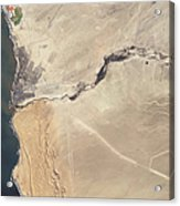 Satellite Image Of The Swakop River Acrylic Print
