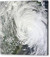 Satellite Image Of Tropical Storm Muifa Acrylic Print