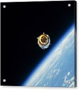 Satellite In Outer Space Acrylic Print