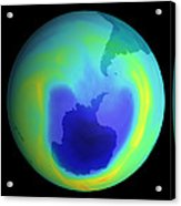 Satellite Map Of Antarctic Ozone Depletion, 1999 Acrylic Print