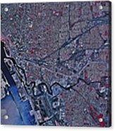 Satellite View Of Buffalo, New York Acrylic Print