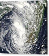 Satellite View Of Cyclone Giovanna Acrylic Print