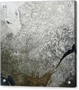 Satellite View Of Eastern Canada Acrylic Print
