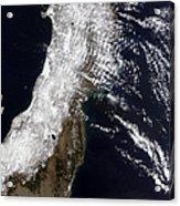 Satellite View Of Northeast Japan Acrylic Print by Stocktrek Images